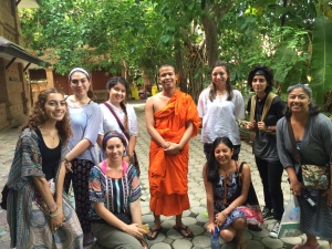 Phra Nanta and students at Wat Jedlin in the Old City (2016)